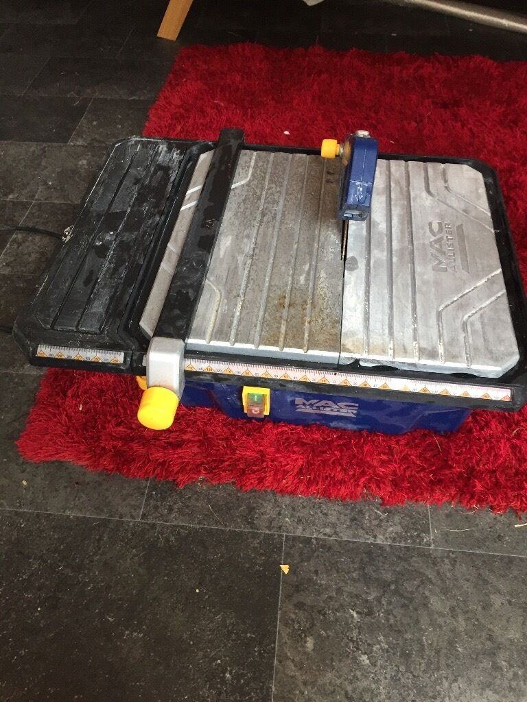 Mac alister electric tile cutterin Wick, West SussexGumtree - Mac alister tile cutter 750w good condition spare cutting blade comes with all bits