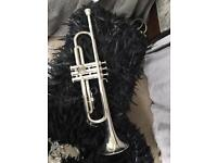Yamaha silver plated trumpet YTR100s