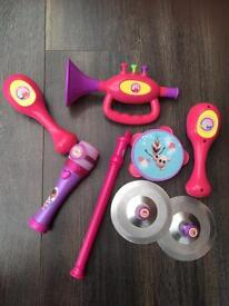 Selection of children's musical instruments