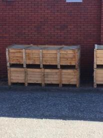 Wooden storage crates + pallets