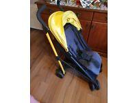 YELLOW AND BLACK stroller-pram
