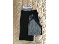 H&M gym trousers and long sleeve top