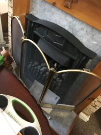 Black and Brass Fire Guard