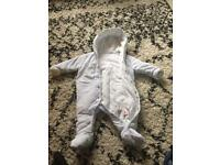 3-6 month mothercare snow suit