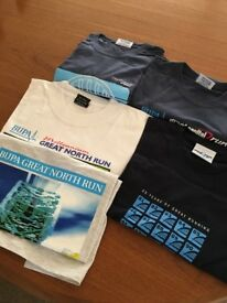 5 event t-shirts, all large, never worn, brand new.