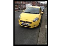 FIAT GRANDE PUNTO RARE YELLOW,LOW MILES LOADS OF MONEY SPENT ON NOW REDUCED 2008,CHEAP INSURANCE