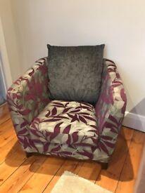 Fabric tub chair