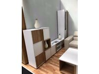 White Furniture Set, Wall Unit & Coffee Table ** Mega DEAL **