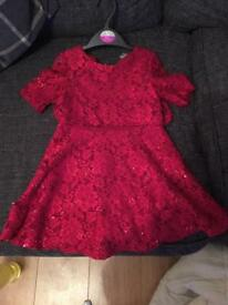 Beautiful red Tu sparkle dress age 5