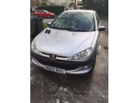peugeot 206, brilliant car 8/9 months mot, good runner, good on fuel, nice inside and out