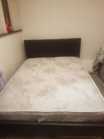 Double faux leather bed bought in february genuine reason for sale quick sale needed