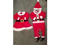 Christmas baby clothes for B/G twins
