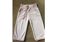 Next, Pink Velour Trousers, size 12-18 months