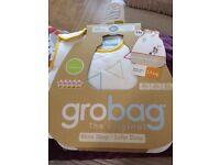 Baby sleeping bag by grobag in original packaging. 2.5 tog