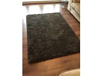 Rug for sale charcoal grey/dark brown