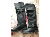 Ladies over the knee black boots