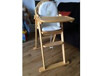 East Coast Wooden Highchair with insert