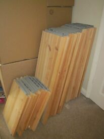 WOODEN IVAR SHELVES from IKEA half price