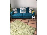 Teal 3 seater and 2 seater seatee