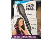 Heated ceramic hair brush