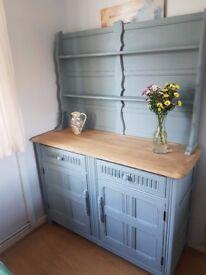 TOTNES solid oak welsh dresser hand painted up cycled refurbished
