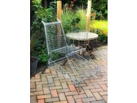 Upcycled supermarket trolley artisan garden chair
