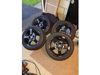 """15"""" Alloy Wheels & Bridgestone Tyres 4x100"""