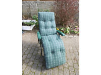 Garden Lounger Chair, hardly used