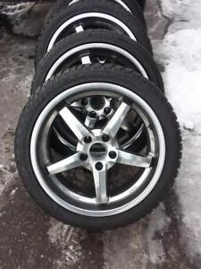 BMW M3 ULTRA HIGH PERFORMANCE WINTER TIRES 245 / 40 / 19 ON ALLOY WHEELS