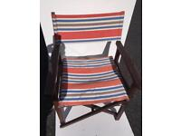 Multicolour, Dark Wood, Folding directors chair