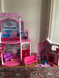 Barbie Dreamhouse and Ski Chalet set