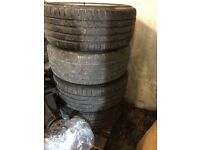 REFURBISHED MERCEDES ALLOYS WITH EXCELLENT TYRES