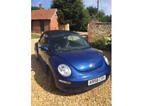 Blue convertible Beetle. 2009, 60000 miles. Recent MOT, great for summer!
