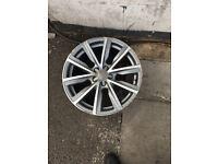 Audi S line diamond cut alloy wheels