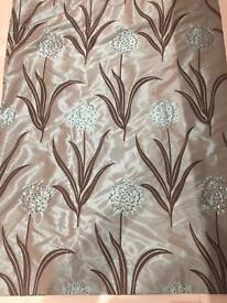 Lined Curtains and 5 matching cushions