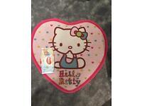 Hello kitty heart shaped rug