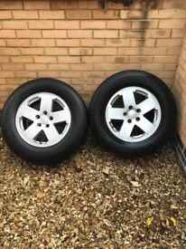 5x18 inch Jeep Wrangler wheels and tyres Goodyear