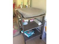 Changing table (modern grey colour) with mat
