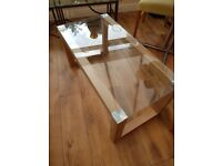 Coffee table with 2 side tables to match