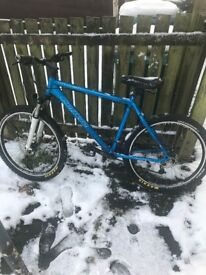Carrera Blue Mountain Bike Spare Wheel included