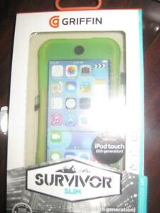 Griffin Survivor Slim Case / Cover for Apple iPod Touch 5th / 6th Gen. Tough. Shock Proof. DropProof. Camera Audio Port