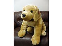 Keel Toys Signature Puppies 120cm Golden Labrador Dog Cuddly Soft Toy SD4557