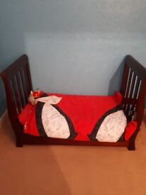 Mini sleigh cot bed