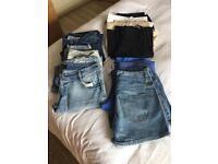 Clothing bundle of women's jeans, trouser & shorts