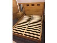 Oak double bed for sale