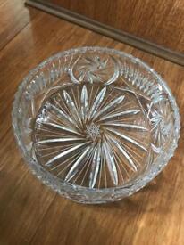 Heavy Cut Crystal Bowl
