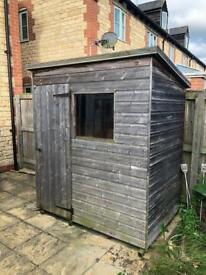 6x4 foot shed. High quality. Tongue and groove. Used