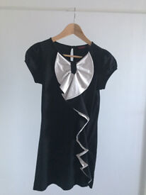Ted Baker Ladies Dress - Black & cream with bow detail