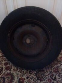 WHEEL HUB AND ALMOST NEW TYRE
