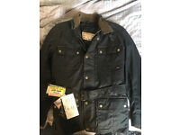 BRAND NEW Men's Wax Motorcycle Jacket Small RRP:239.99
